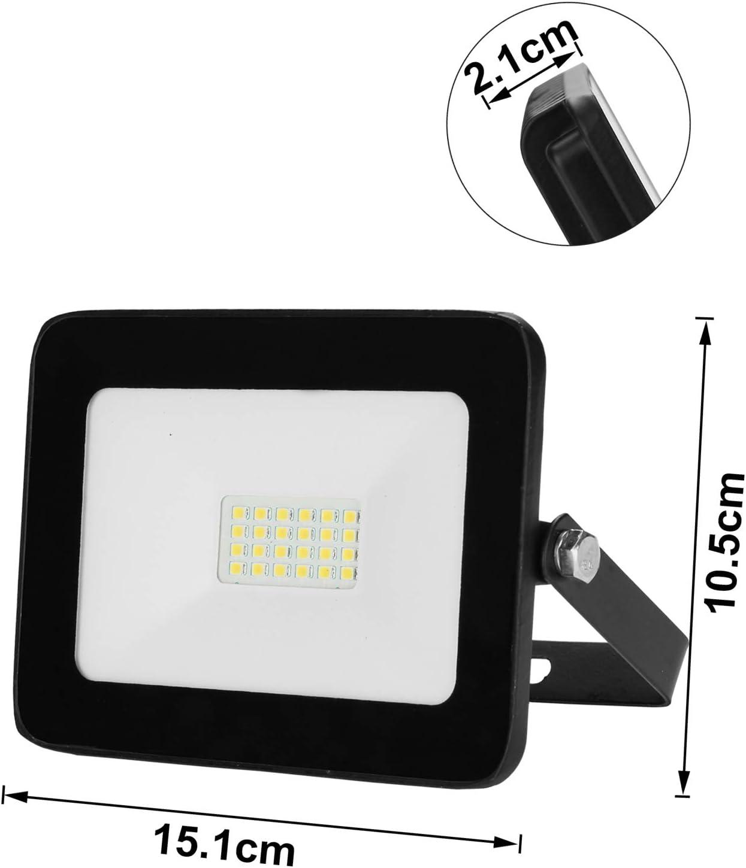IP65 Wasserdicht 850LM LED Aussenstrahler Flutlicht f/ür Garten Garage Sportplatz usw 10W Tageslichtwei/ß Superhell LED Fluter Hengda LED Strahler