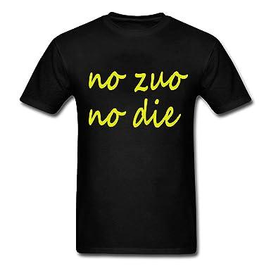 amazon com men s cotton t shirt no zuo no die clothing