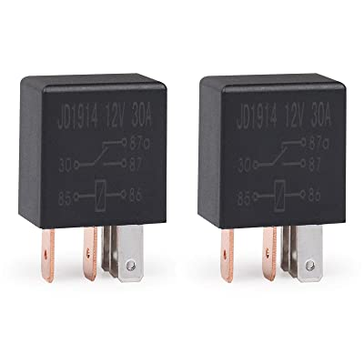 Ehdis 5 Pin 12VDC 30A SPDT Multi-Purpose Relay Heavy Duty Standard Relay Kit, Pack of 2: Automotive