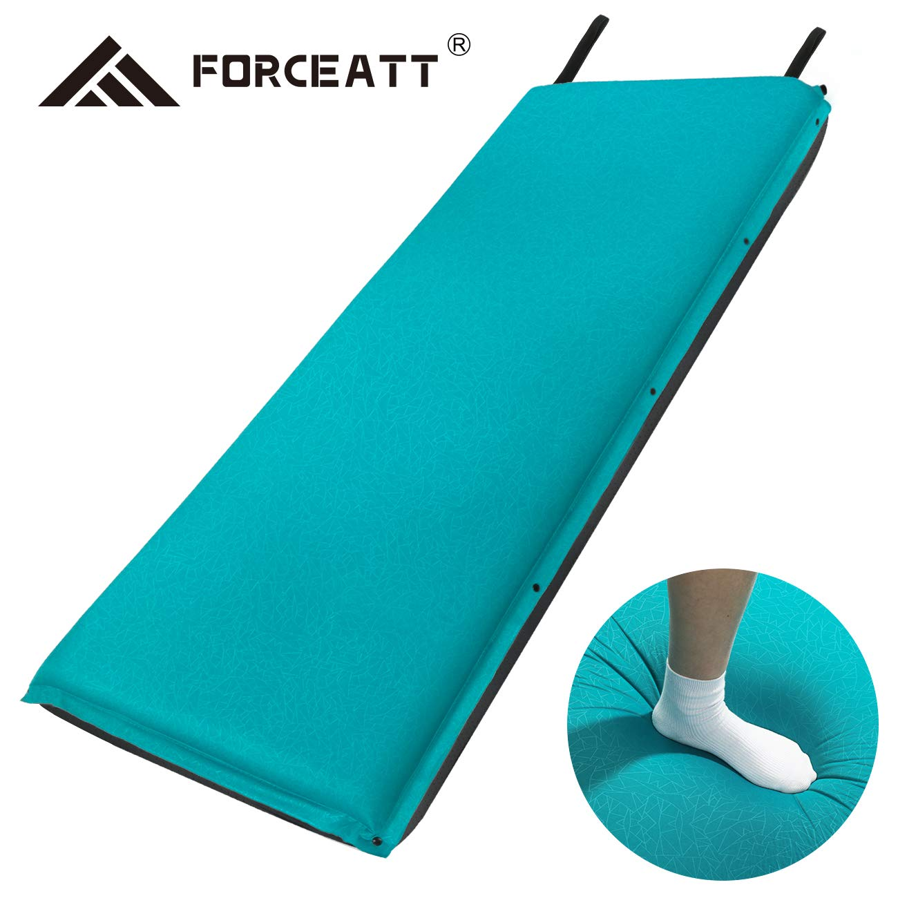 Thick Self Inflating Lightweight Camping Pad and Non-Slip Particles on The Back Ideal for Backpacking and Camping Forceatt Camping Sleeping Pad 2 and 3.2 Inches