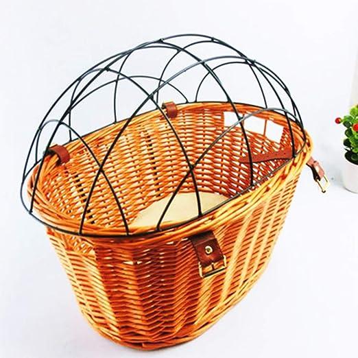 GYJ Canasta de Bicicleta para Mascotas, Canasta de Bicicleta de ...