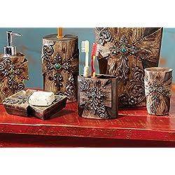 Rustic Cross Bath Set - 3 pcs - Rustic Bath Accessories