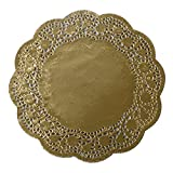 Geeklife Paper Doilies , Gold Foil Lace Doilies, 10 Inches Diameter ,20 Count