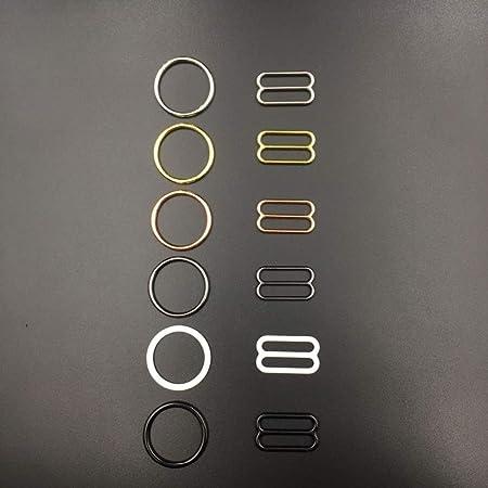 Schwarz 4 Mm LYHONG 20 St/üCke BH Ringe Und Schieber Gurt Einsteller Schnallen Unterw/äSche Einstellung Zubeh/öR Knopf Kleidung