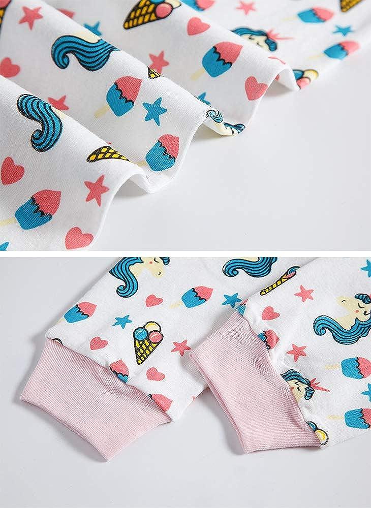 regalo di Natale per bambini Pigiama estivo per bambine con stampa a sirena a maniche corte 2 pezzi