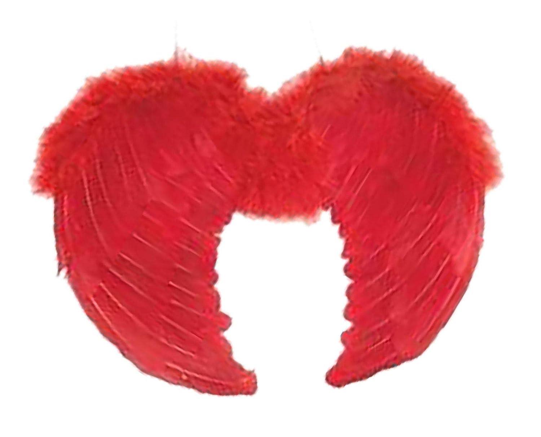 Islander Fashions Adultes D�guisements Ailes de Plumes Unisexe Gay Pride Angel Devil Accessoire Costume Rouge