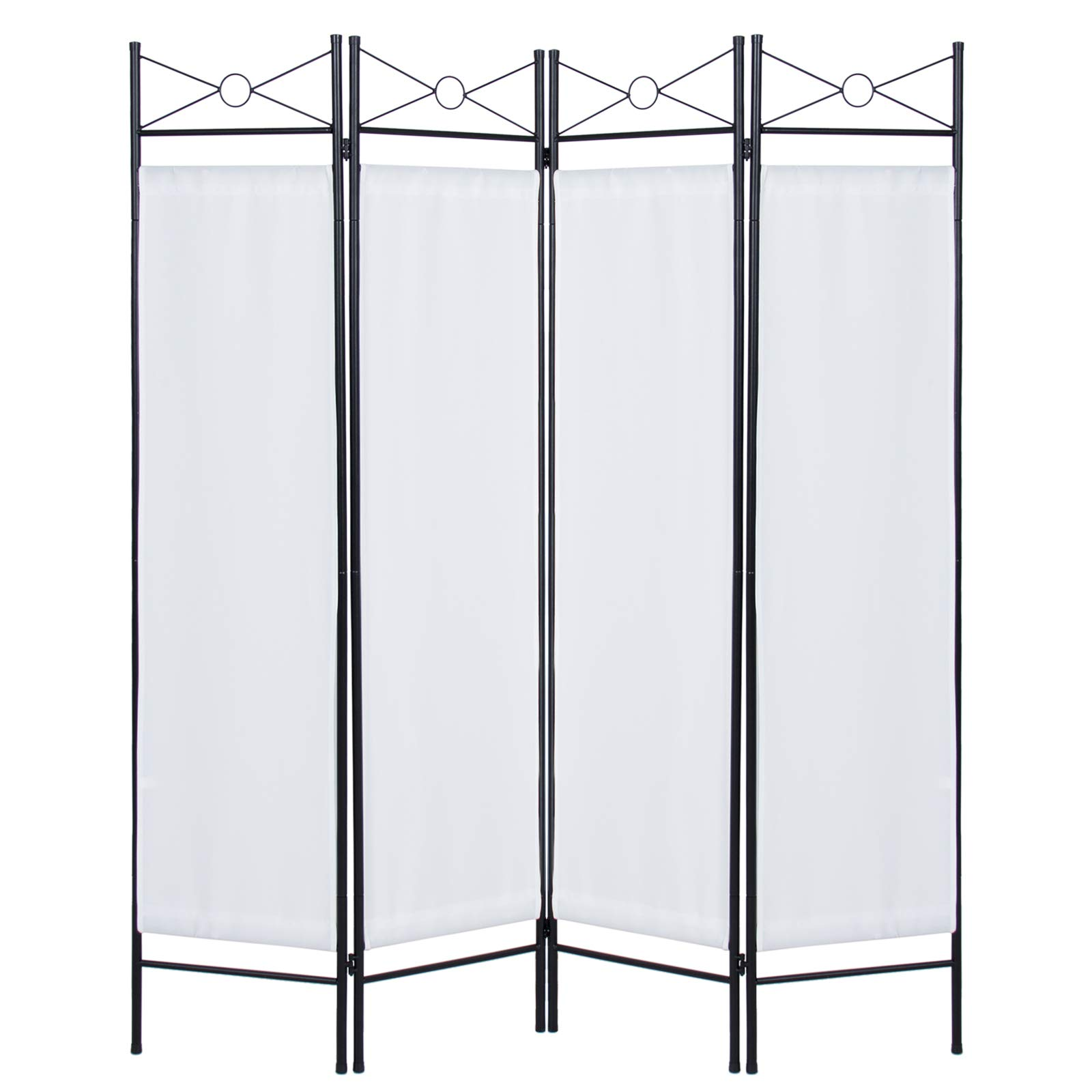 Best Choice Products Home Accents 4 Panel Room Divider, White by Best Choice Products