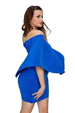 La Vogue Vestido Corto con Volantes para Mujer Cóctel Múltiples Formas: Amazon.es: Ropa y accesorios