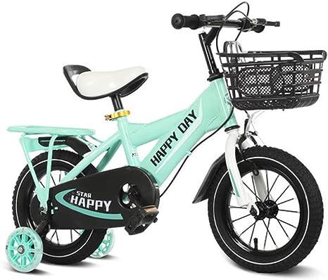 TD Bicicleta para Niños 2-3-4-6-8 Años Princesa Carro De Bebe 12 ...