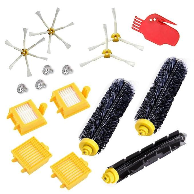 Reposición Pack Cepillos Kit para iRobot Roomba aspiradora serie 700 760 770 780-incluyen un conjunto de 16: Amazon.es: Hogar
