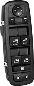 Front Driver Side Power Master Window Switch for 2009-2012 Dodge Ram 1500 2500 3500 Replace # 4602863AD 4602863AB 4602863AC
