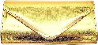 Angkorly - Handtaschen Clutches Taschen Schultertaschen Tote bag Schlangenprint Golden Modern Abend Disco starre para bodas y fiestas Damen trend tasche elegante Geschenkidee