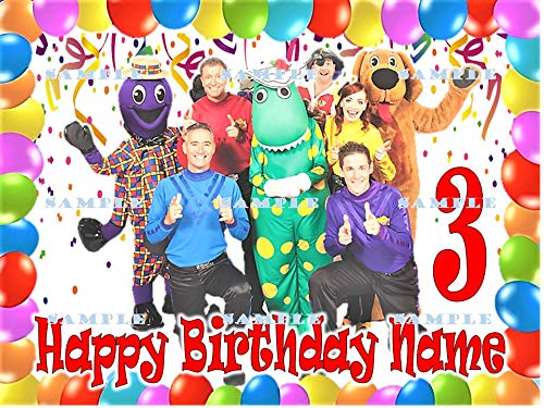 (THE WIGGLES : Personalized edible Birthday Cake topper premium frosting sheets)