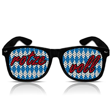 Weiß-blaue Bayern-Sonnenbrille b3QVNT