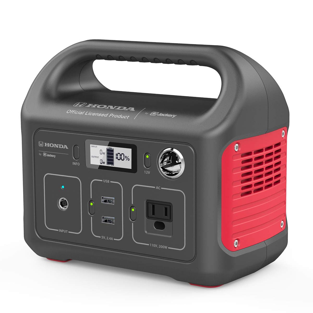 Honda by Jackery HLS 290 Portable Lithium Battery Mobile Power Station, Emergency Power Pack and External Battery Charger, Gas-Free Generator Alternative, Honda Official Licensed Product by Jackery by Jackery