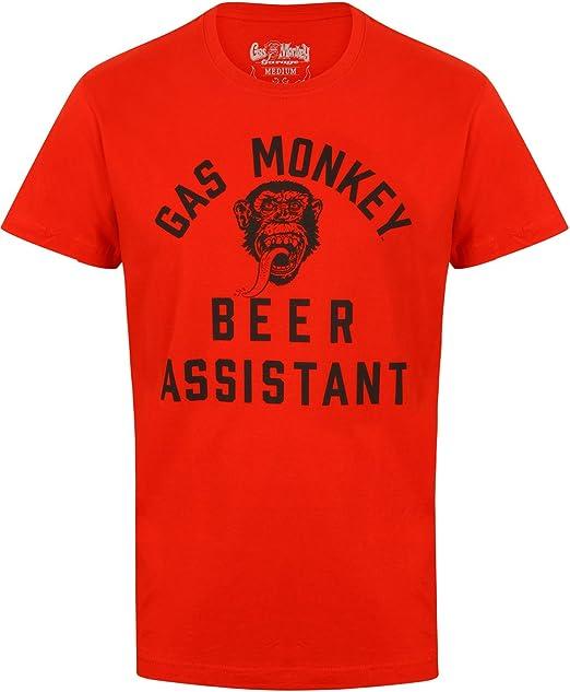 Gas Monkey Garage - Camiseta - para Hombre Rojo Rosso: Amazon.es ...