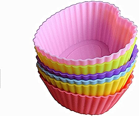12 Pièces Silicone Gâteau Muffin Chocolat Tasses De Cupcake Moule