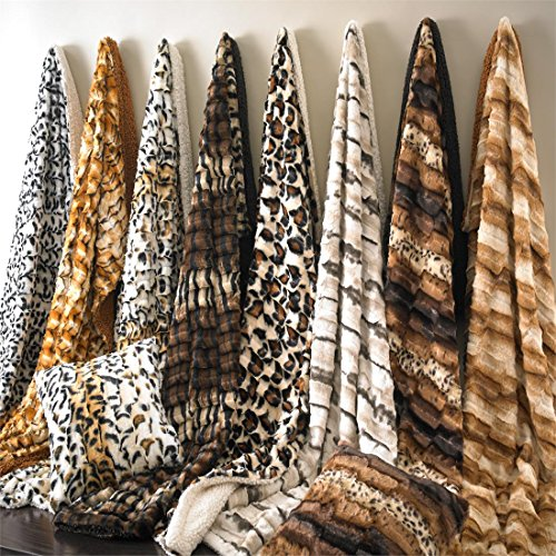 Zebra Faux Fur Throw - 2