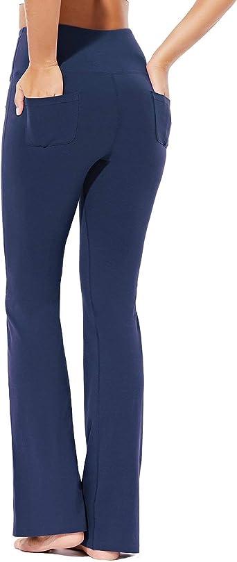 BALEAF EVO - Pantalones de yoga para mujer, algodón, con bolsillos: Amazon.es: Ropa y accesorios