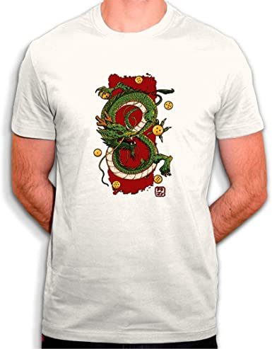 tee Shenron Dragon Ball - Camiseta para Hombre, Color Blanco: Amazon.es: Ropa y accesorios