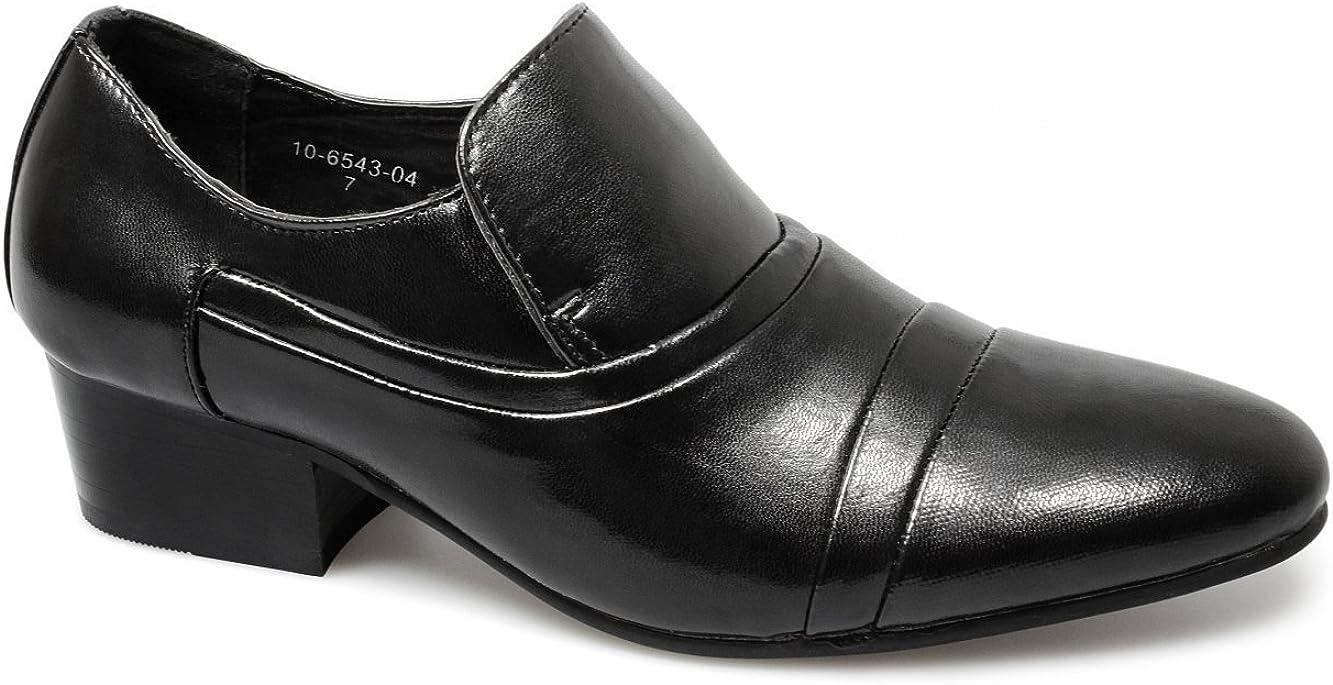 MH Collection Janus Mens Faux Leather Cuban Heel Shoes