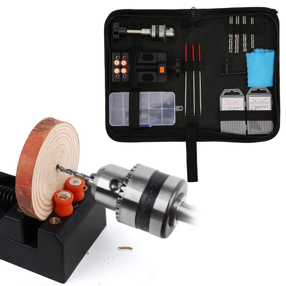 pl/ástico nogal 36 piezas Kit de brocas helicoidales para limas manuales accesorios para herramientas de carpinter/ía Mini juego de brocas manuales cuerno con bolsa olivo para taladrar madera