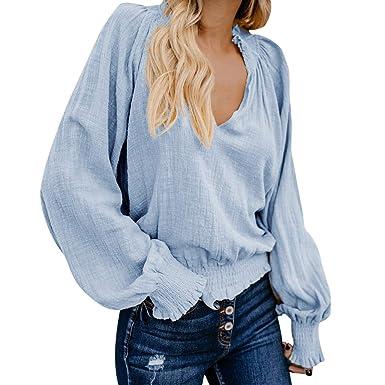 Damen Bluse Einfarbig Blumen Spitze Kurze Ärmel Baumwolle Pullover Grau Online