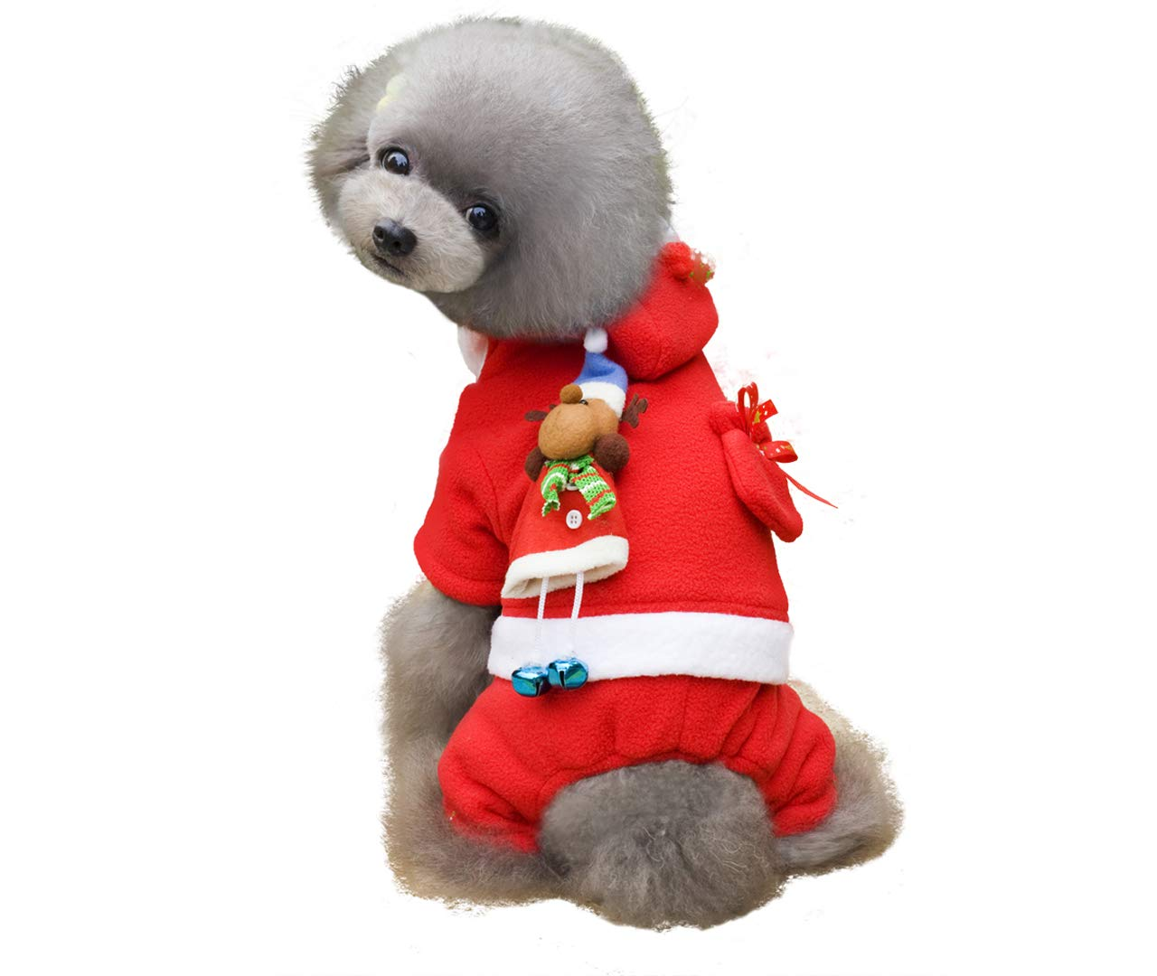 Red L Red L ALIOO Ups Dog Christmas Sweater Clothes,Pet Xmas Costumes for Girl and Boy-L