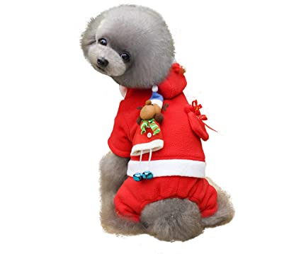 f97a49d3674b ALIOO Ups Dog Christmas Sweater Clothes,Pet Xmas Costumes for Girl and Boy  -M