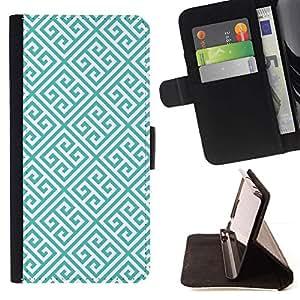 Momo Phone Case / Flip Funda de Cuero Case Cover - Enlaces verde del modelo del papel pintado - Sony Xperia Z5 5.2 Inch (Not for Z5 Premium 5.5 Inch)