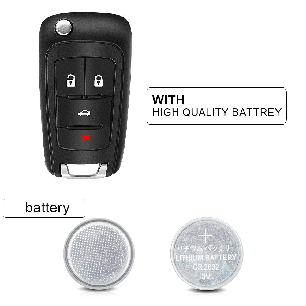 OHT01060512,5461A-01060512 TURBOSII Car Key Fob Replacement Keyless Entry Remote fits Chevrolet Malibu Sonic Impala Equinox Limited Cruze Camaro//Buick Allure Encore Lacrosse Regal Verano//GMC Terrain