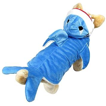 Z Suministros De Mascotas Azul Shark Cosplay Hoodies Jaws Fancy Traje Traje Adorable Mascota Traje De Abrigo Para Perros Grandes: Amazon.es: Productos para ...
