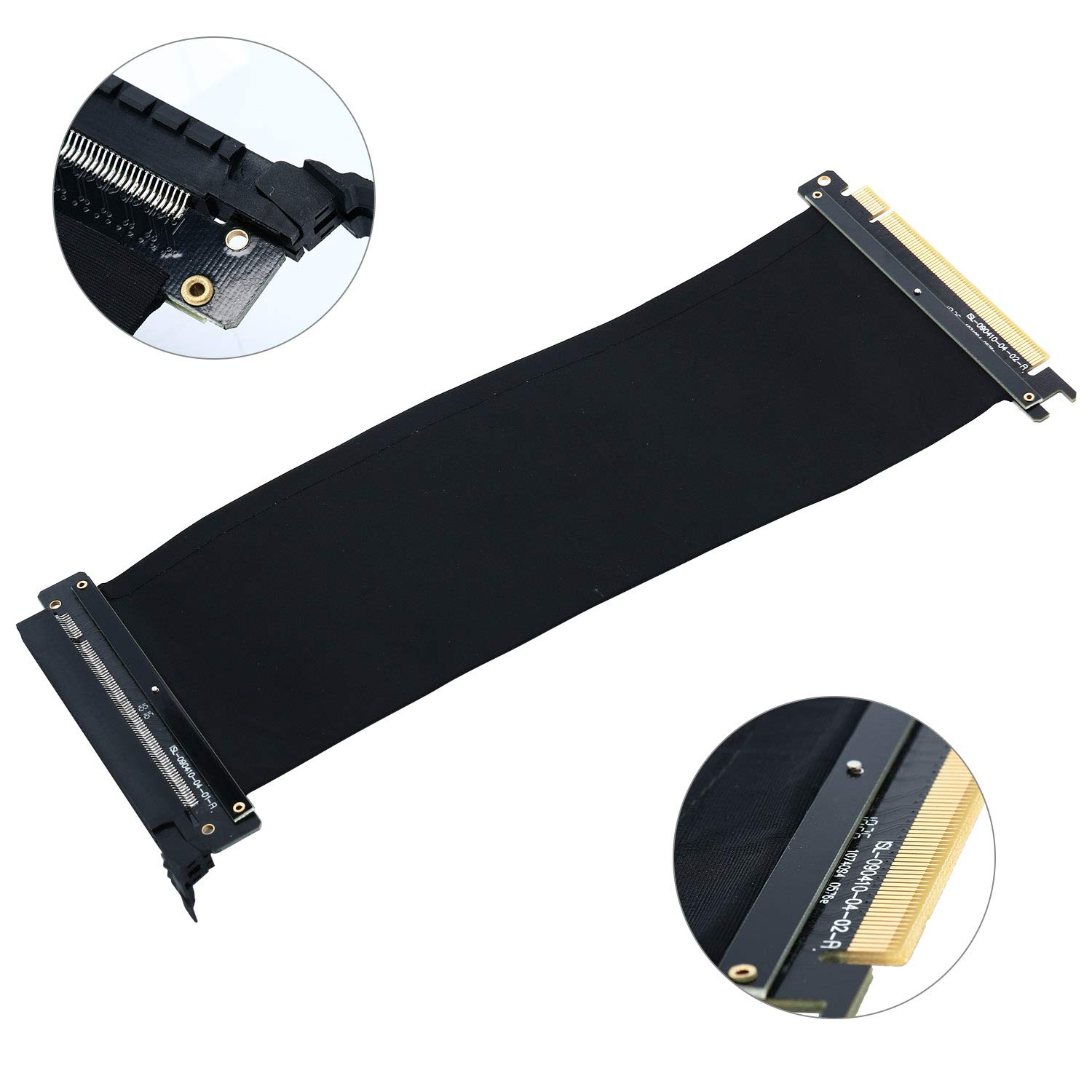 PCI Express PCIe3.0 16x Flexible Cable Card Extension Port Adapter High Speed Riser Card (25cm)