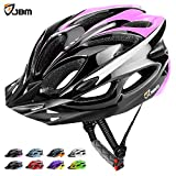JBM Adult Cycling Bike Helmet Specialized for Mens Womens Safety Protection Red / Blue / Yellow (Black & Pink, Adult)
