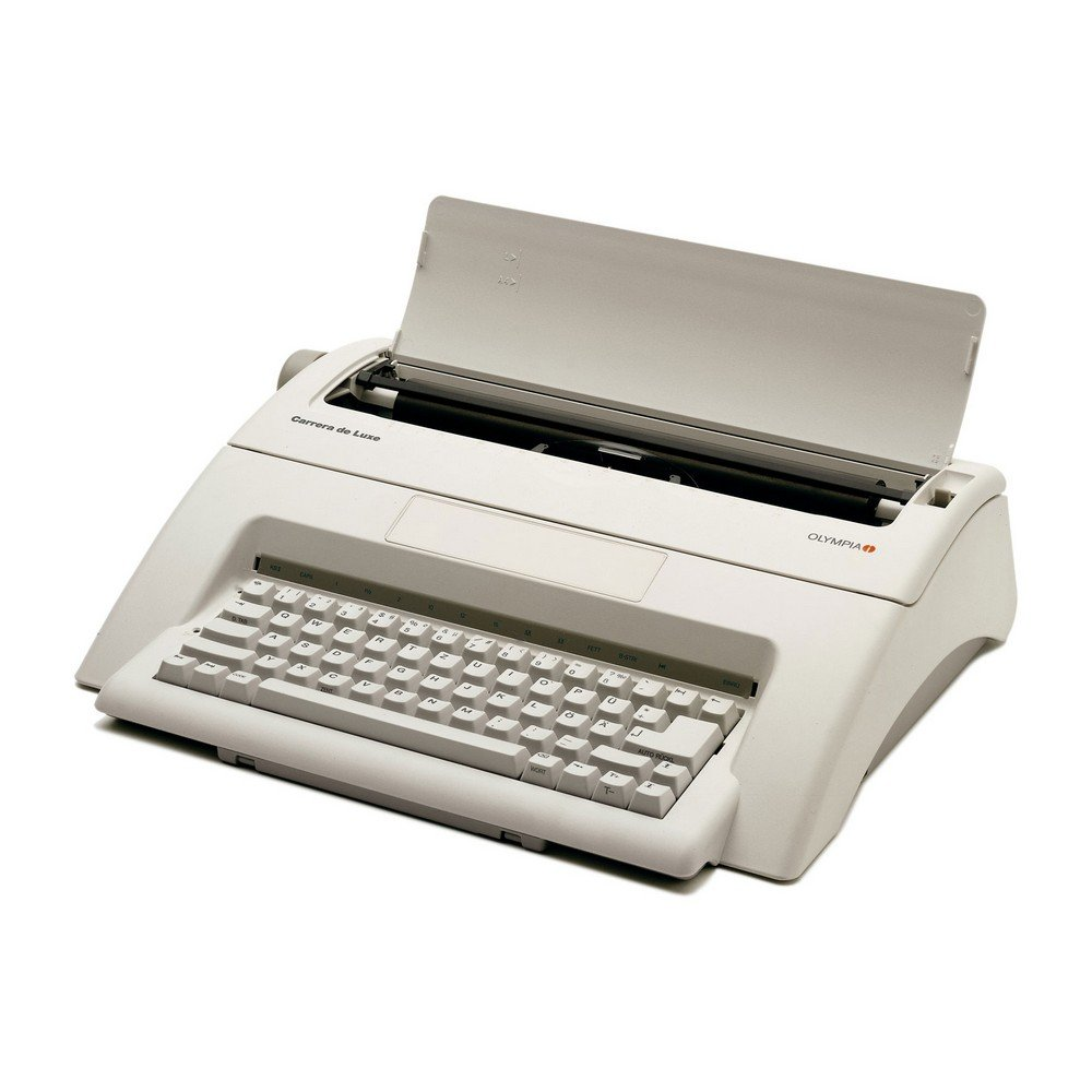 Olympia 252651001 Carrera de luxe - Máquina de escribir, tamaño de letra 10-15, teclado alemán QWERTZ