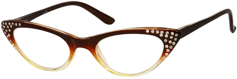 ceeae2f14ef1 Amazon.com  Readers.com The Paulina Rhinestone Cat Eye Reading Glasses Full  Frame Readers for Women