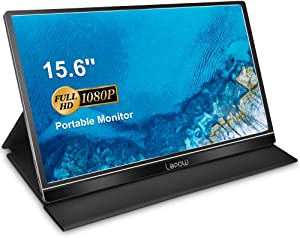 Portable Monitor - Lepow Upgraded 15.6 Inch FHD 1920 × 1080 Computer Display IPS HDR Ultra-Slim Gaming Screen with USB Type-C Mini HDMI Dual Speaker for Laptop MAC PC Phone Switch PS4 Xbox