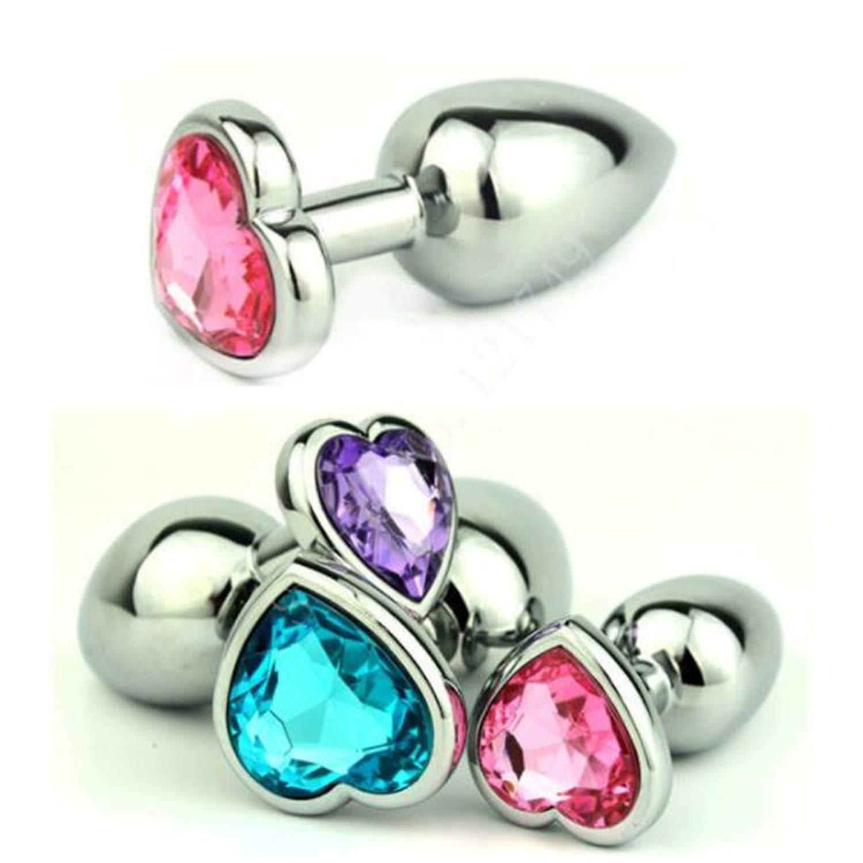 Sêx Bútˉţ Play Pluĝ Mini Size Heart Shaped Stainless Steel Crystal An-àl Pluĝ Jewelry Bútˉţ Pluĝ An-àl Adult Toys for Couples,Transparent TShirt by RQWA TSHIRT