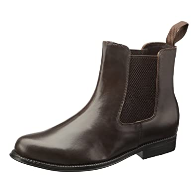 Chelsea Boots Men's Real Leather Boots with Leather Soles. In Black and Brown