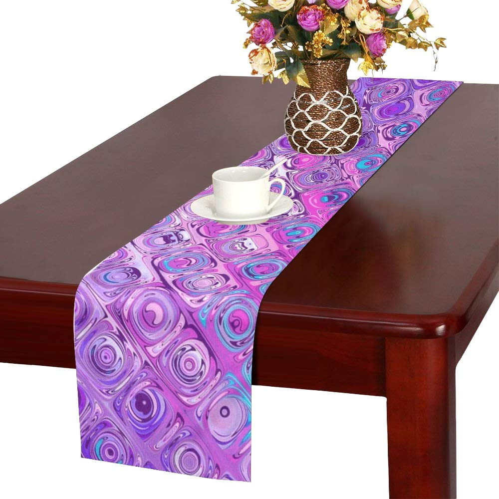 Jnseff Texture Color Structure Abstract Table Runner, Kitchen Dining Table Runner 16 X 72 Inch For Dinner Parties, Events, Decor