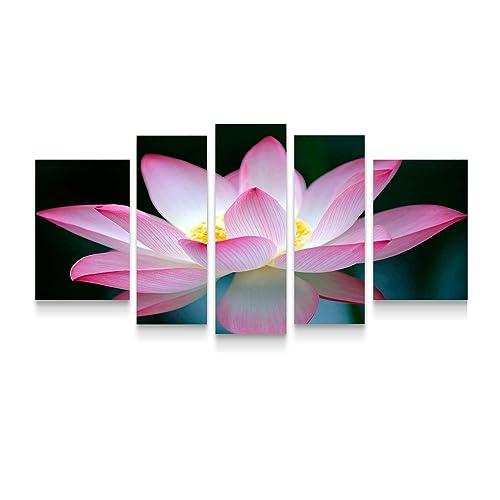 Startonight Canvas Wall Art Pink Flower