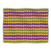 "Kess InHouse Jane Smith ""Under The Sea Shells Purple Yellow"" Dog Blanket, 60 by 50-Inch"