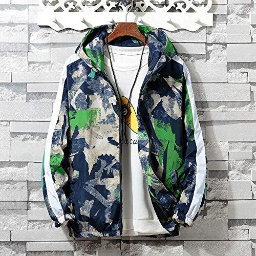 L'automne Poche Magiyard Manche Manteau Hiver Longue Hoodies Bleu Camouflage Zip Hommes Veste Sport wxC54qOCg
