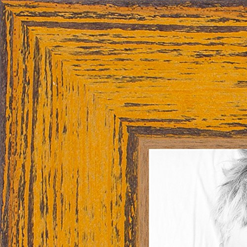 ArtToFrames 24x36 inch Gold Rustic Barnwood Wood Picture Fra