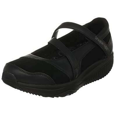 Skechers Women's Shape-ups Hyperactive Ballerina Black UK 4.5
