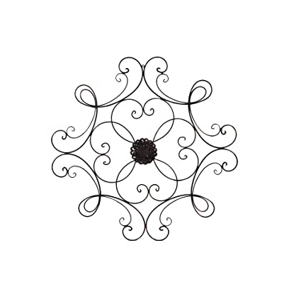 Amazon.com: Square Scrolled Metal Wall Medallion Decor: Home & Kitchen