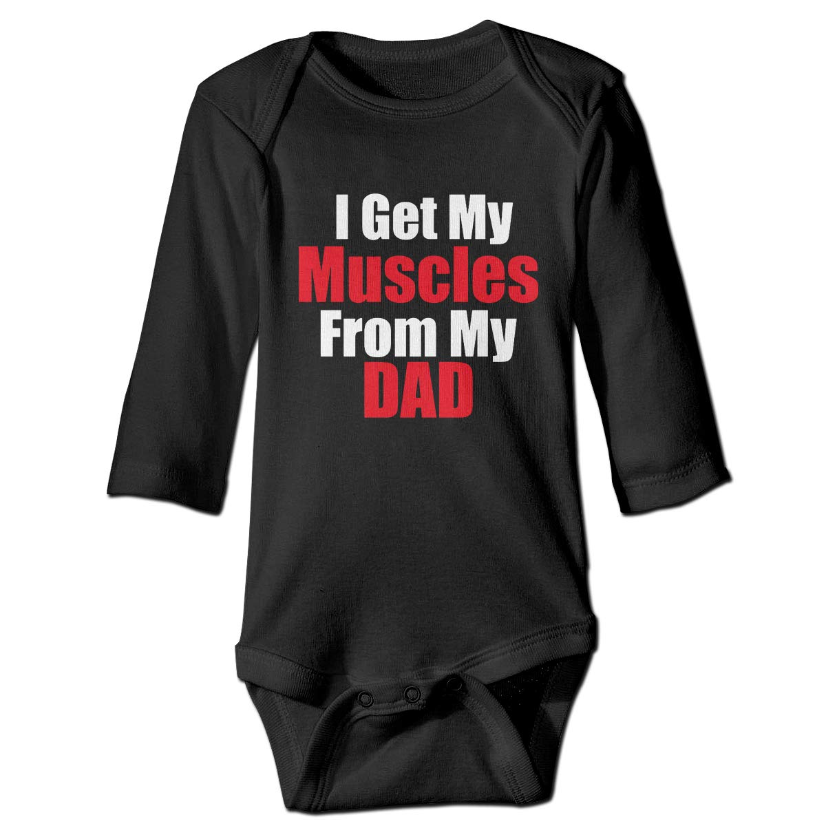 Cnfoldjfong I Get My Muscles from Daddy Long Sleeve Onesies Outfits