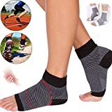 CROSS1946 Compression Foot Socks for Plantar Fasciitis Men Women(1 Pair)-Anti Fatigue Foot Sleeves-Short Arch Ankle Support Brace-Black S&M for Women