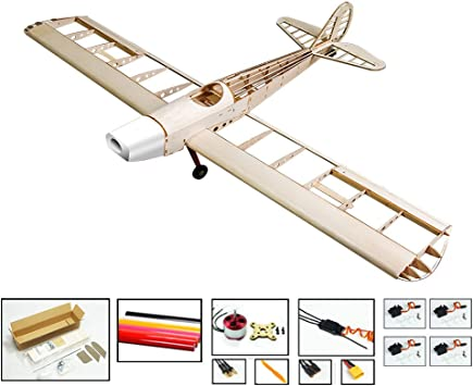 S1004b Rc Balsa Wood Aircraft Space Walker Modellflugzeug Kit Zum Aufbau Mit Power System Abdeckung Amazon De Spielzeug