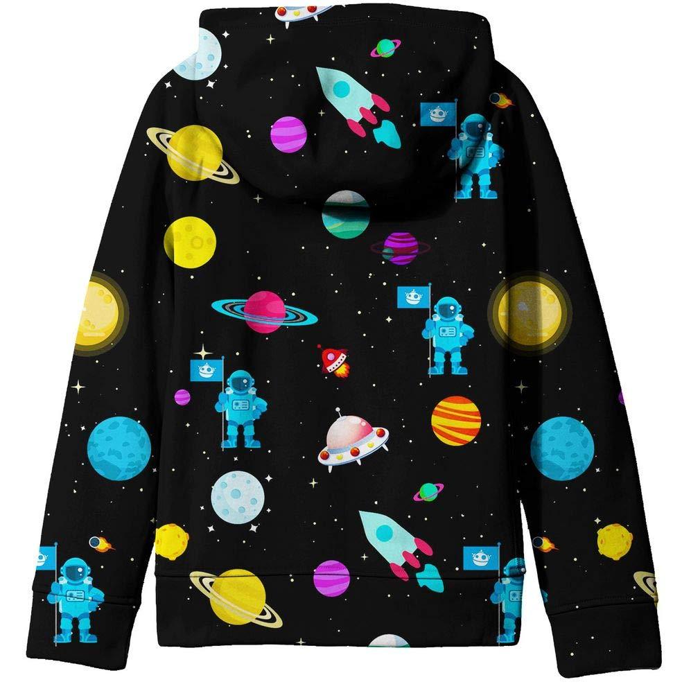 2b23b19dd SAYM Big Boys  Youth Galaxy Teen Jackets Fleece Full Zip Hooded Hoodie  6-15Y  Amazon.co.uk  Clothing